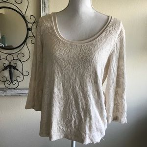 Coldwater Creek • lace blouse